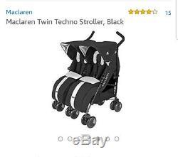 Maclaren Twin Techno Stoller En Noir