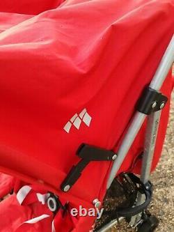 Maclaren Twin Triumph Noir/rouge- Poussette Double Siège