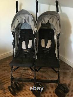 Mamas Et Papas Cruise Twin Double Poussette Parapluie Gris Poussette New Buggy