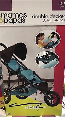 Mamas Papas Double Double Decker Poupées Landau Poussette Idéal Cadeau De Noël Pour Les Enfants