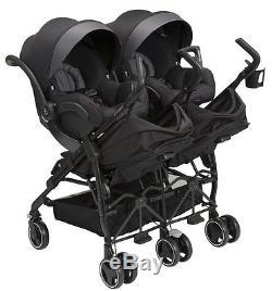 Maxi-cosi Dana Pour 2 Jumeaux Bébé Bébé Poussette Double Bébé Devoted Noir Nouveau 2017
