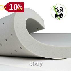 Maxzzz 2/3 Inch Twin Soft Bamboo Charcoal Infused Memory Foam Mattress Topper