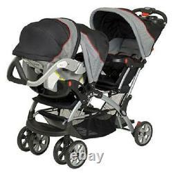 Millennium Baby Trend Sit N Stand Plus Double Poussette Twin Car Seat Car Carrier Nouveau