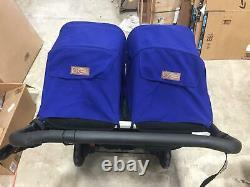 Mountain Buggy 2017 Duo Folding Baby Twin Double Poussette En Bleu Marine