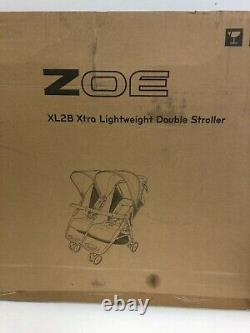 New Zoe Xl2 Meilleure Poussette Double Légère Xtra Noir Xl2-bnk Duo Twin