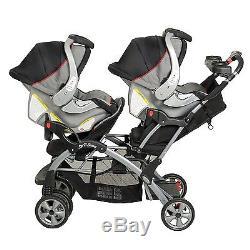 Nouveau Landau Baby Trend Sit N Stand Double + 2 Sièges Auto