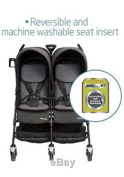 Nouveau Maxi Cosi Dana Baby Poussette Pour 2 Deux Jumeaux En Noir Dévoué