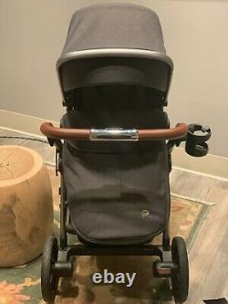 Nouveau, Silver Cross Wave Twin Baby System Poussette Avec Bassinet, Granite