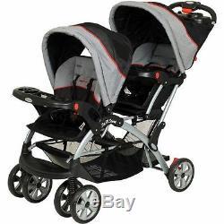 Nouvel Poussette Double Landau Sit N Stand De Baby Trend + 2 Sièges Auto