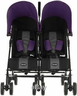 Obaby Apollo Twin Stroller Double Poussette / Poussette Bébé / Enfant En Bas Âge Voyage 0m + Bn