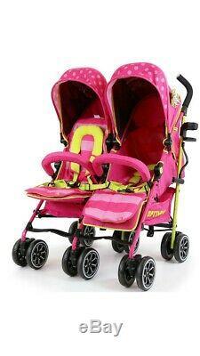 Optimum Isafe Lux Mea Bébé Enfant En Bas Âge Double Twin Rose Poussette Buggy Inc Raincover