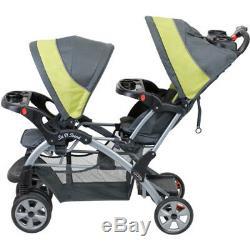 Parapluie Bébé Poussette Double Twin Sit N Stand Kids Tandem Poussette Travel Grey