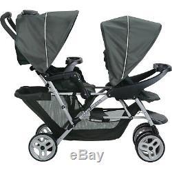 Portable Twin Baby Toddler Poussette De Voyage Pliable Double Sit Stand Double Double Nouveau
