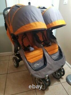 Poussette Biplace Twin Standard Double Standard Baby Jogger City Mini, Orange/grey
