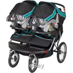 Poussette De Jogging Double Pour Bébé Navigator De Baby Trend Tropic Rembourré Sur Le Devant Nouveau