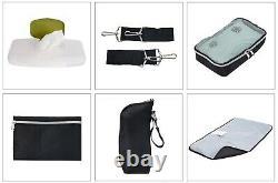Poussette Double Avec 2 Sièges D'auto Twins Playard Bag Combo Bundle Travel System