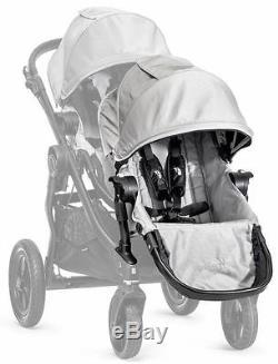Poussette Double Baby Jogger City Select Argent Avec Deuxième Siège