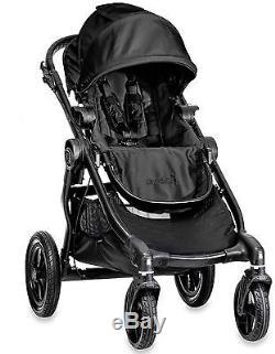 Poussette Double Baby Jogger City Select Noire Avec Siège Second Et Couffin Nouveau