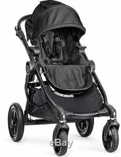Poussette Double Baby Jogger City Select Noire Avec Siège Second Nouveau