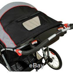 Poussette Double Baby Jogging Jogger Buggy Noir Tandem Nouveau