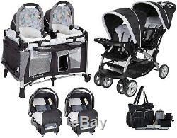 Poussette Double Baby Trend Avec 2 Sièges D'auto Pour Bébé Assortis Twins Nursery Center