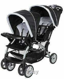 Poussette Double Bébé Avec 2 Sièges Auto 2 Échangistes Pour Bébés Twin Nouveau-né Playard Combo