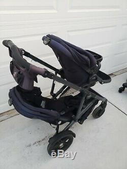 Poussette Double Britax B Ready Double Noire B-ready Twin 2 Enfants Enfants Bébé