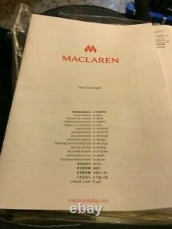 Poussette Double Maclaren Twin Triumph À Peine Utilisée En Denim-rare