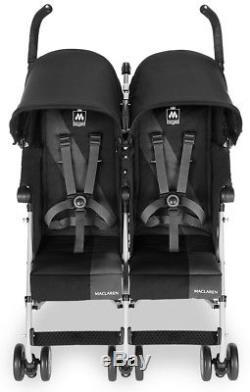 Poussette Double Maclaren Twin Triumph Lightweight Noire / Charcoal Nouveau