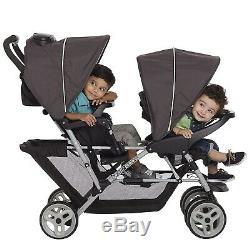 Poussette Double Pour Bébé Avec 2 Sièges Auto Assortis Set Combo Bassinets Jumeaux Playard