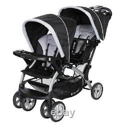 Poussette Double Pour Bébé Elite Twins Avec 2 Sièges Auto 2 Swings Playard Sac Combo Set