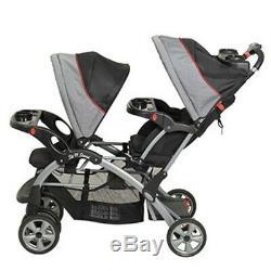 Poussette Double Pour Jumeaux Sit And Stand De Baby Trend 2 Plateaux Avec Porte-gobelets Pour Enfants