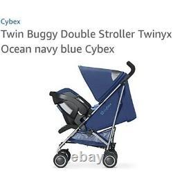 Poussette Double Poussette Buggy Jumeaux Cyber Twinyx Nouveau-né / 5 Ans XXL Canopée