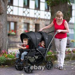 Poussette Double Poussette Pliable Twin Baby Poussette Légère Poussette Pour Bébé