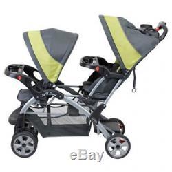 Poussette Double Tandem Pour Bébé 2 Places Sit Trendy Baby Trend, En Carbone