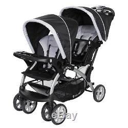 Poussette Double Tandem Pour Bébé 2 Places Sit Trendy Baby Trend, Stormy