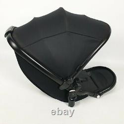 Poussette Egg Poussette Inférieure Seat Unit Tandem Noir Double Jumeau Gotham Noir