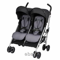 Poussette Evenflo Minno Twin Double Baby (glenbarr Grey)