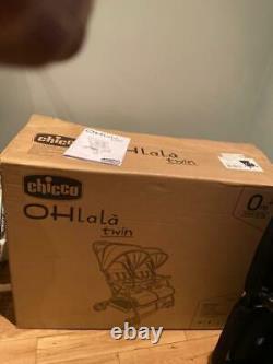 Poussette Jumelle Chicco Ohlala (nuit Noir) Avec Couverture De Pluie, Convenant À Partir De La Naissance