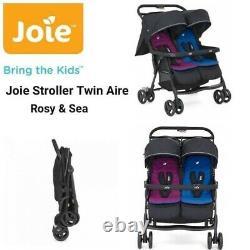 Poussette Jumelle Joie Aire Rose/bleu Poussette Pushcover Double Seat Buggy