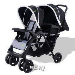 Poussette Poussette Jogger Twin Baby Enfants Pliable