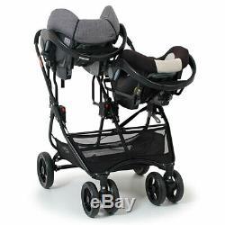 Poussette Siège-auto Pliable Ultra Duo De Valco Baby Snap Newborn Twin Coal Black