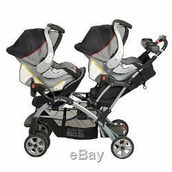 Poussettes Pour Deux Personnes S'asseoir Et Se Tenir Double Transporteur De Siège De Voiture De Garçons Jumeaux Jumeaux Filles