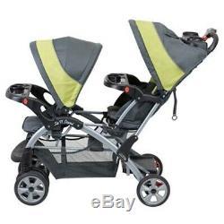 Poussettes Pour Deux Personnes S'asseoir Et Se Tenir Double Transporteur De Siège De Voiture Pour Garçons Jumeaux Jumeaux Filles