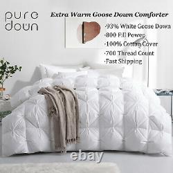 Puredown Qualité Premium 93% Goose Down Comforter King Full Twin Taille Meilleur