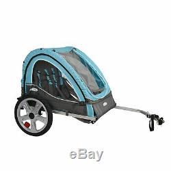 Remorque De Vélo Porte-vélos Pour Enfant Double Twin Toddler Baby Infant Pliant Chien