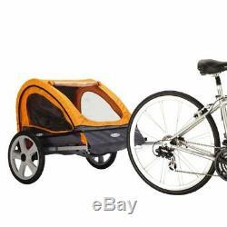 Remorque De Vélo Pour Porte-bébé Double Siège 2 En 1 Avec Poussoir Pour Enfants