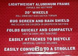 Schwinn Esprit Vélo / Vélo Double / Double / 2 Enfants Aluminium Remorque / Poussette Foldin