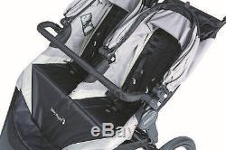 Sommet Baby Jogger X3 Twin Double All Terrain Poussette De Jogging Noir / Gris Nouveau