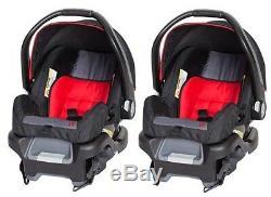 Tandem Poussette Double Twins Elite Nursery Centre Balancelle Rouge Système Voyage